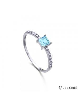 LeCarré anillo Topacio y diamantes