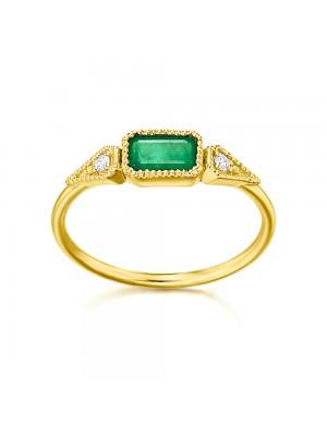 LeCarré anillo Esmeralda Octógono