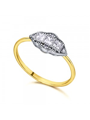 LeCarré anillo Topacios blancos y diamantes