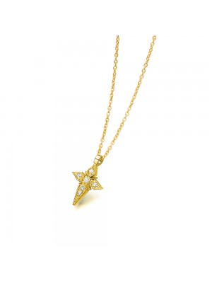 LeCarré pendientes de Oro con cadenita y estrella colgando