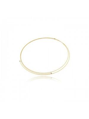 MagicWire, collar Silenzio, en oro amarillo, titanio y zafiro