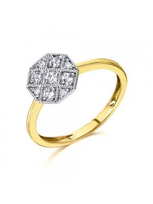 LeCarré anillo 4 Topacios blancos y diamantes