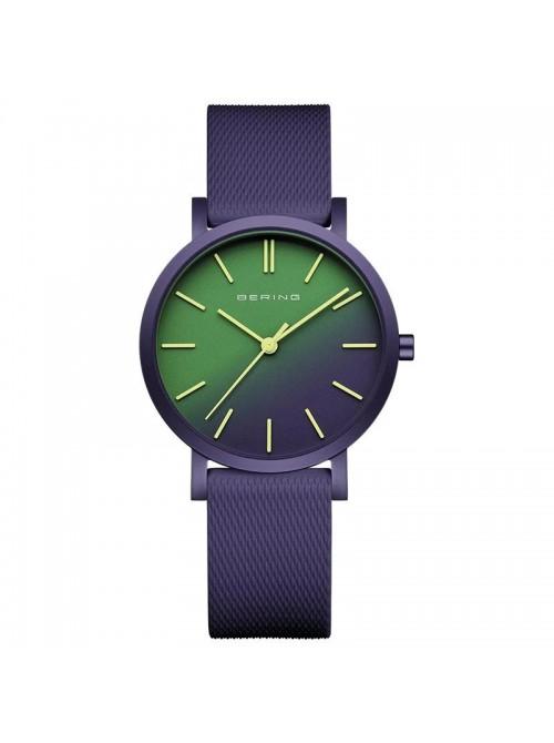 Bering, reloj Ultra Slim Hombre Plateado Malla Plateada Esfera Gris