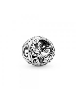 Pandora Charm en plata de ley Colgante Azul Noche y Luna Creciente