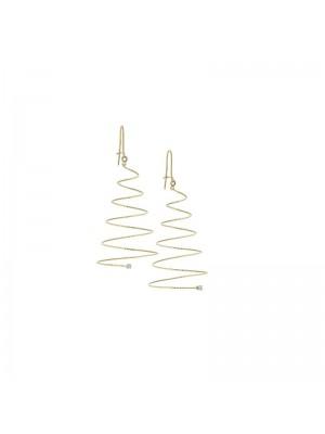 MagicWire, pendientes Silenzio Espiral en oro amarillo, titanio y zafiros blancos