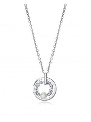 Viceroy collar Elegant de plata con doble aro
