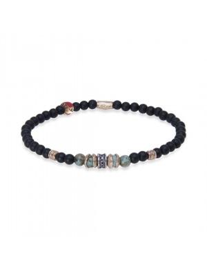 PlatadePalo pulsera Beads-B3F