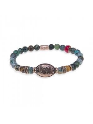 PlatadePalo pulsera Beads-MB104X