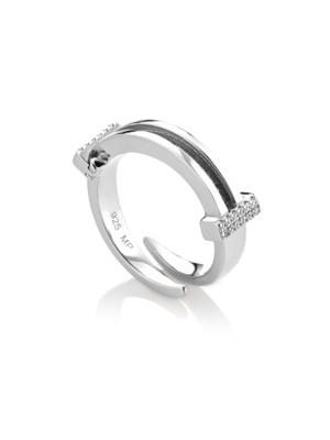 Marcello Pane, anillo de plata con acabado rodiado