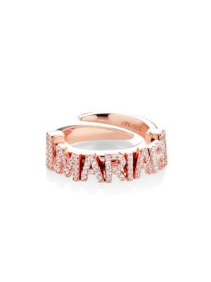 Marcello Pane, anillo de plata bañado en oro rosa