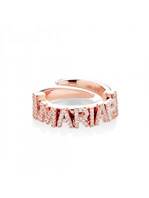 Marcello Pane, pulsera rígida de plata bañada en oro rosa