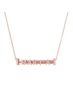 Marcello Pane, collar de plata bañado en oro rosa