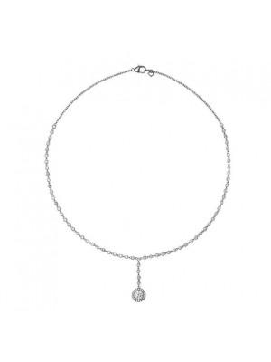 Diamonfire collar de plata con colgante de rosetón