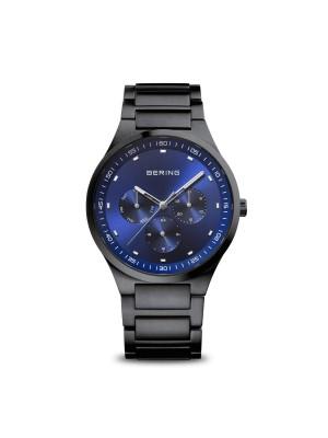 Bering, reloj Ultra Slim Hombre Plateado Malla Plateada