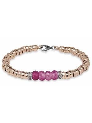 PlatadePalo pulsera de bronce, circonitas y cristal-CB90E