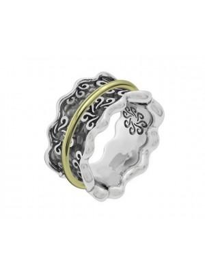 Bohemme anillo en plata y oro
