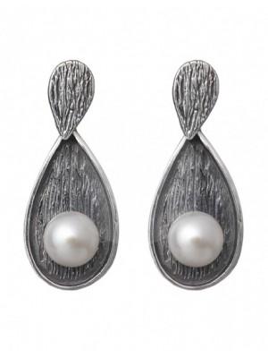 Styliano pendientes de plata Alyssum con perlas