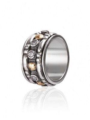 Styliano anillo de plata y oro