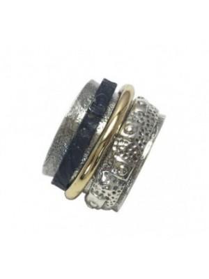 Altana anillo anti-stress plata y bronce