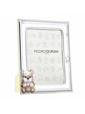 Pedro Durán marco Osito estrella rosa foto 13x18