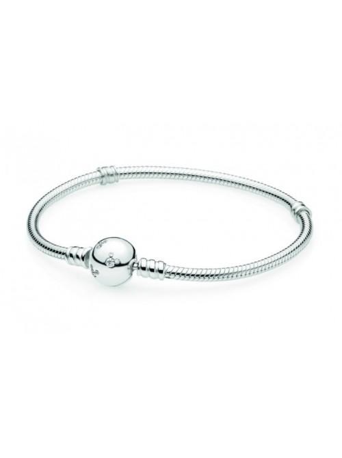 Pandora pulsera plata cierre Mickey
