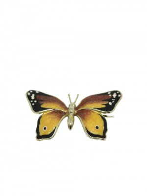 Opera Collection broche Mariposa plata y esmalte