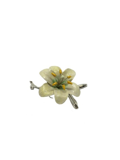 Opera Collection broche flor plata y esmalte