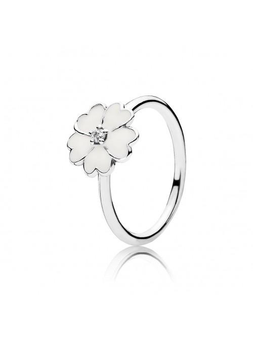 Pandora anillo Primula blanca