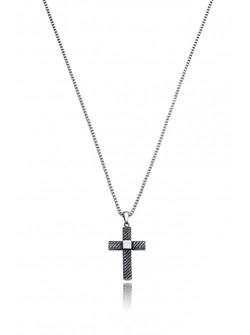 Viceroy, collar acero colgante cruz