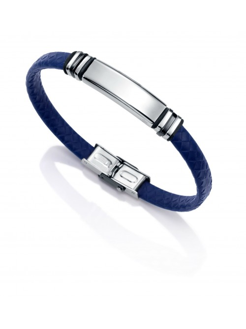 Viceroy, pulsera acero y caucho azul