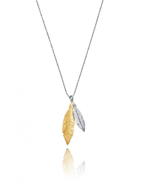 Viceroy, collar plata plumas bitono