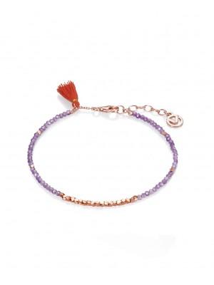 Viceroy, pulsera plata rosada y piedras
