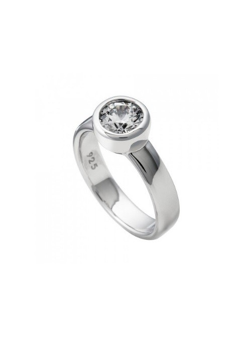 Diamonfire Anillo solitario engastado