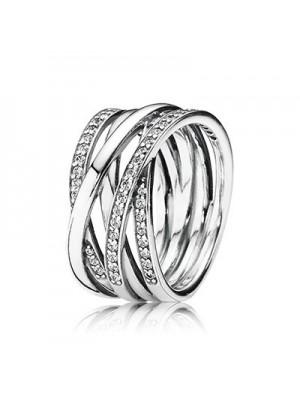 anillo lazo de amor pandora