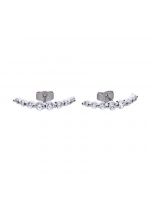 Diamonfire pendientes Brilliant horizontales