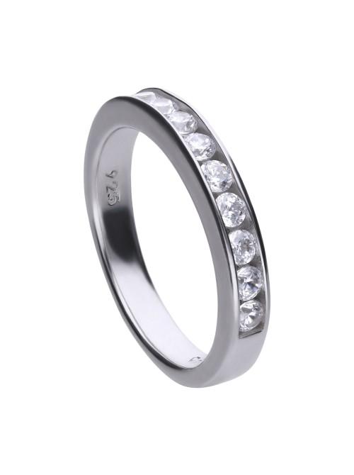 Diamonfire anillo Eternidad de plata con 10 circonitas