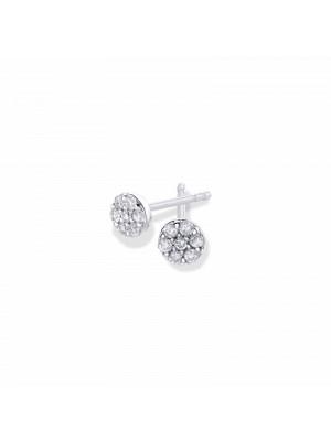 Pendientes Aurum pavé de diamantes de Duran Exquse de oro 18K