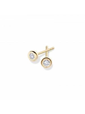 Pendientes Aurum chatón de diamante de Duran Exquse de oro 18K