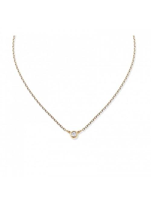 Colgante Aurum de Duran Exquse de oro 18K, chatón de diamante