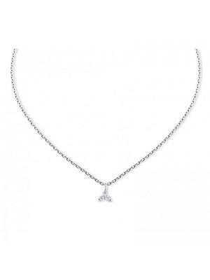 Colgante Aurum de Duran Exquse de oro 18K, triángulo de diamantes