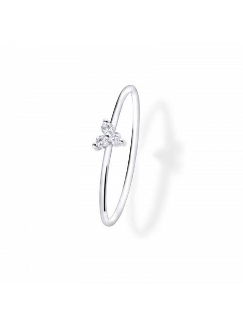 Anillo Aurum de Duran Exquse de oro 18K, triángulo de diamantes