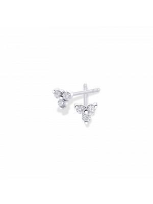 Pendientes Aurum de Duran Exquse de oro 18K, triángulo de diamantes