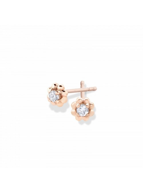 Pendientes Aurum  de Duran Exquse en oro 18K y diamantes en garra