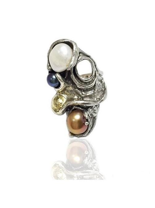 Altana anillo de plata y perlas