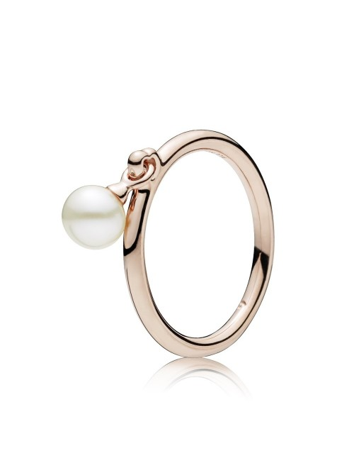 Pandora Rose anillo Perla Contemporánea