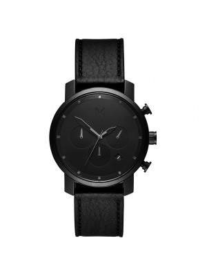 MVMT Chrono Black Sage Black Leather
