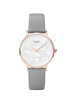 Cluse Minuit La Perle Rose Gold White Pearl Stone Grey