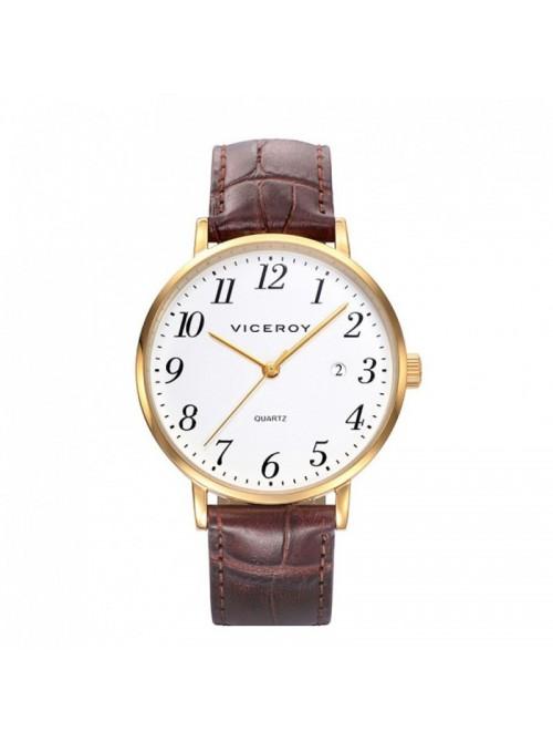 Viceroy reloj Classic 38mm dorado piel