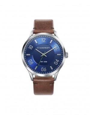 Viceroy reloj Beat 42mm azul piel marrón
