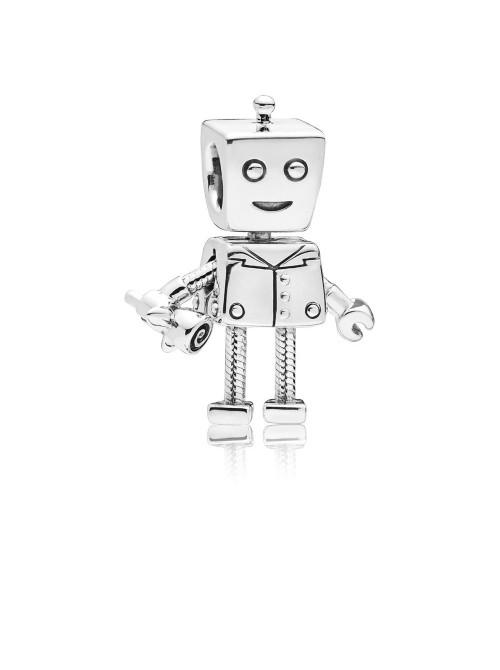 Pandora charm en plata Robot Bot